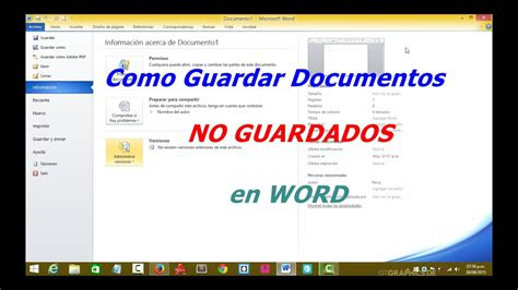 Como guardar documentos no guardados en word   YouTube