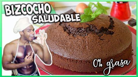como hacer BIZCOCHO de CHOCOLATE SALUDABLE fácil y sin ...