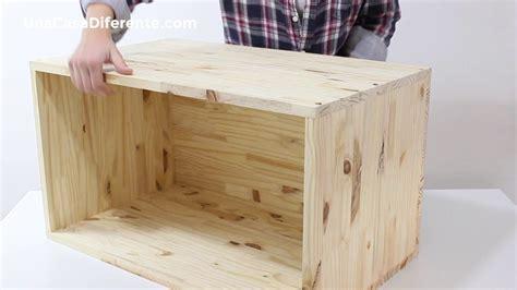 Cómo hacer caja de madera con ruedas | Hacer cajones de ...
