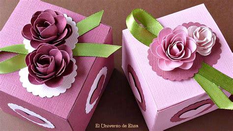 Cómo hacer Cajas de Regalo, Caja de Regalo con Rosas de ...