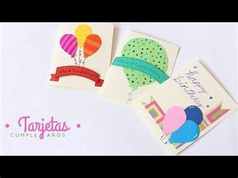 Como Hacer Cartas / Tarjetas de Cumpleaños Fáciles y ...