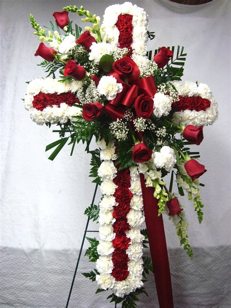 como hacer centros florales para cementerio 14