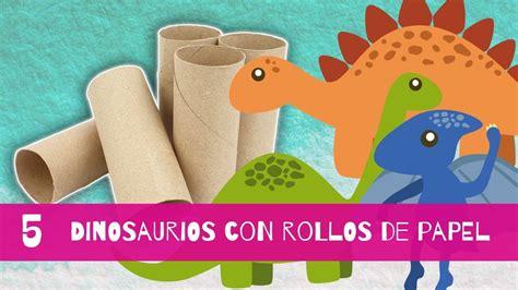 Cómo hacer dinosaurios con rollos de papel higiénico ...