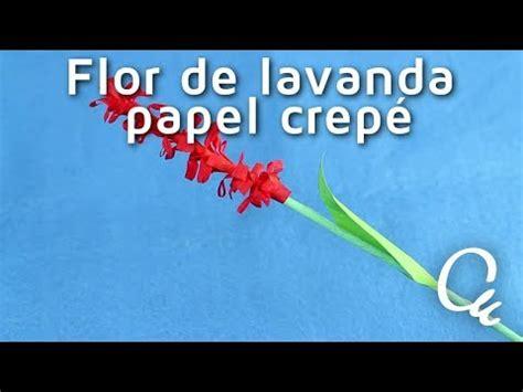Cómo hacer flores de lavanda con papel crepé| facilisimo ...