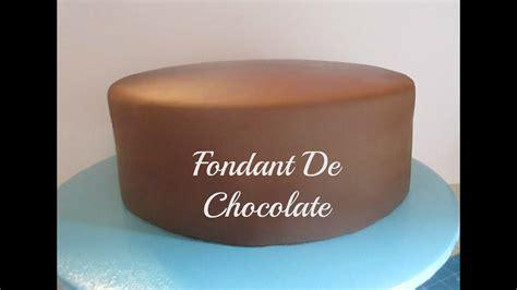 Cómo Hacer Fondant De Chocolate y Cubrir El Pastel Muy ...