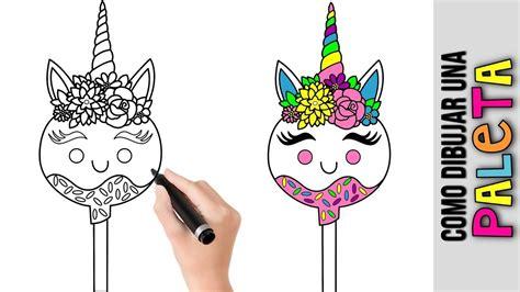 Como Hacer Linda Paleta Unicornio Kawaii  Dibujos De ...