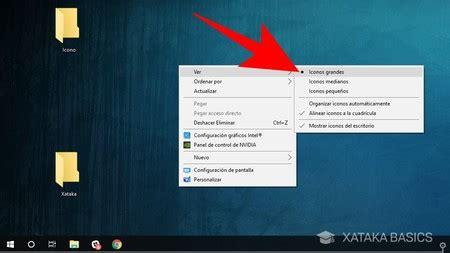 Cómo hacer los iconos más grandes o pequeños en Windows 10