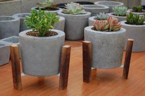 Como hacer macetas de cemento, concreto u hormigón ...