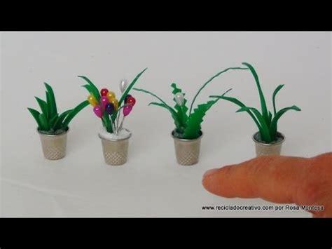Cómo hacer maceteros con dedales y hojas de plantas con ...