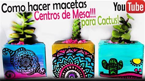 Como hacer Mini Macetas con Mandalas para cactus y ...