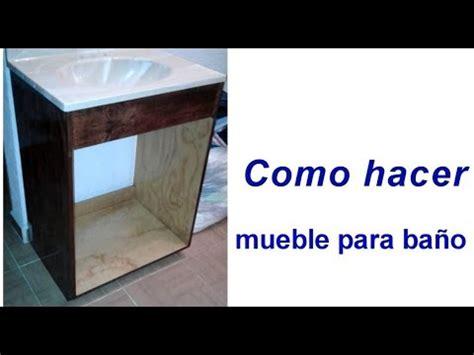Como hacer mueble para baño sencillo #17   YouTube