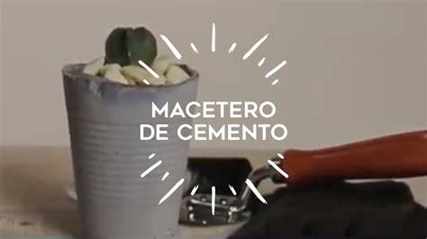 ¿Cómo hacer originales maceteros de cemento para tus ...