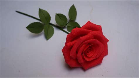 Cómo hacer Rosa de papel crepe  Hermosa    Rosas con una ...