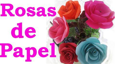 Cómo hacer rosas de papel faciles y bonitas paso a paso ...