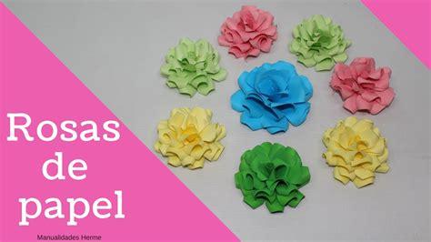 Como hacer rosas de papel   YouTube