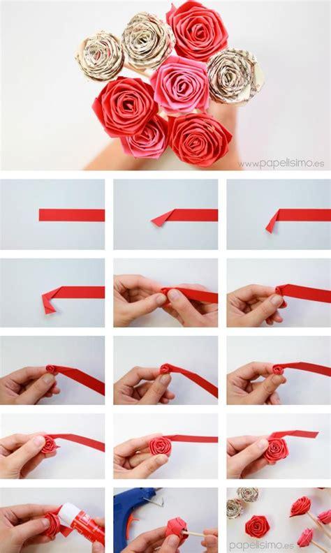 Cómo hacer rosas enrollando una tira de papel. ¡Más fácil ...