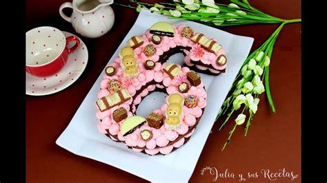 Cómo hacer tarta Adikosh o tarta de números | CON BIZCOCHO ...