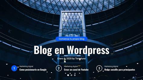 Como hacer un blog con wordpress   YouTube