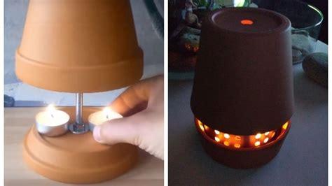 Cómo hacer un calefactor con maceteros y velas   Terra Chile