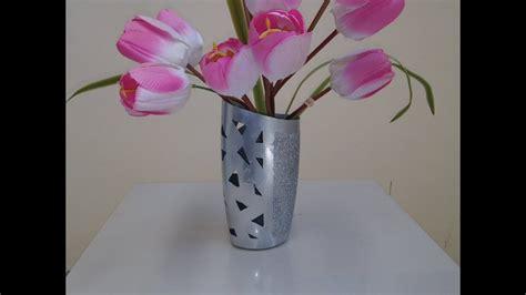 como hacer un florero con material reciclado. Manualidades ...