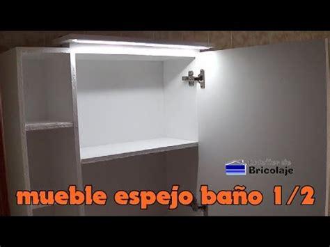 Cómo hacer un mueble con espejo para el baño. 1/2   YouTube