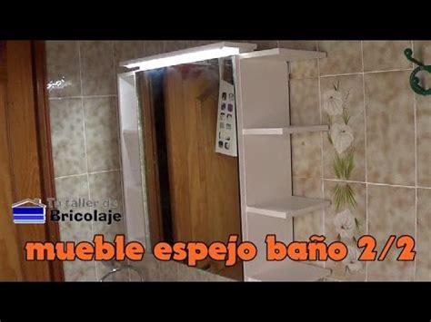 Cómo hacer un mueble con espejo para el baño. 2/2   YouTube