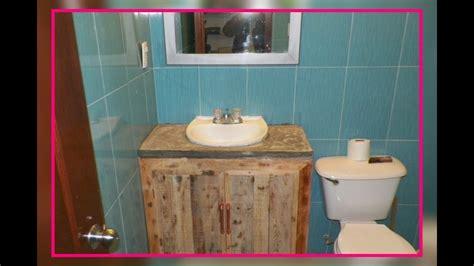 como hacer un mueble para el baño de madera reciclada ...