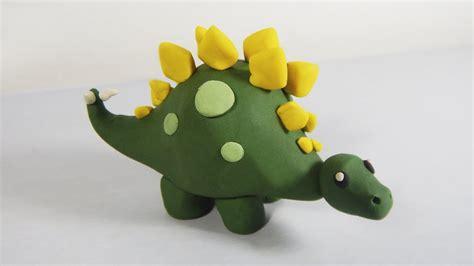Cómo hacer un stegosaurus de plastilina paso a paso fácil ...