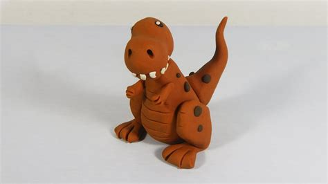 Cómo hacer un tiranosaurio rex de plastilina paso a paso ...