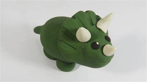 Cómo hacer un triceratops de plastilina paso a paso fácil ...