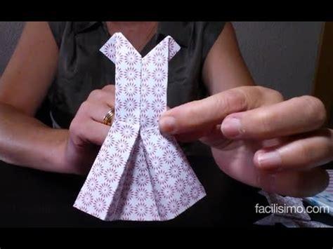 Como hacer un vestido de papel técnica origami ...