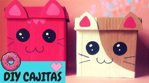 Como hacer una caja kawaii DIY manualidades para organizar ...