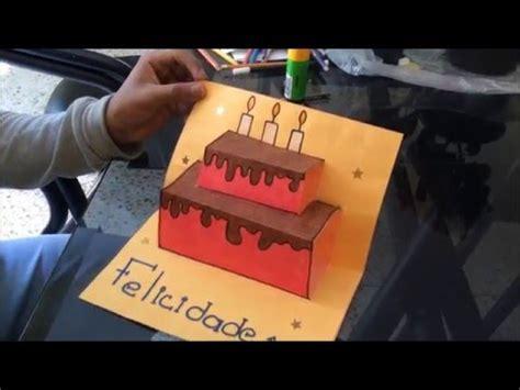 como hacer una carta de cumpleaños  FACIL Y BONITA    YouTube