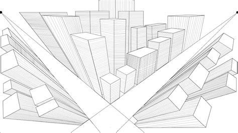¿como hacer una ciudad con 3 puntos de fuga?   YouTube