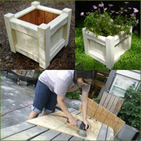 como hacer una maceta de madera