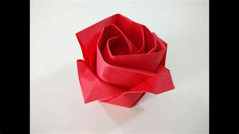 Como hacer una rosa de papel   Flor de origami   YouTube
