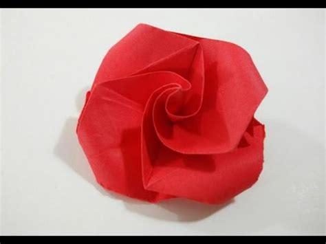 Como hacer una rosa de papel muy facil   Flor de papel ...