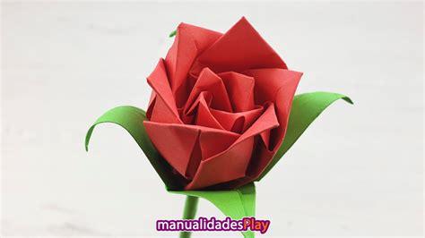 Cómo hacer una ROSA de papel ¡Origami fácil ...
