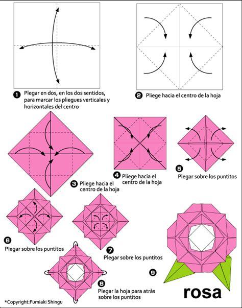 Como hacer una rosa en papiroflexia   Imagui