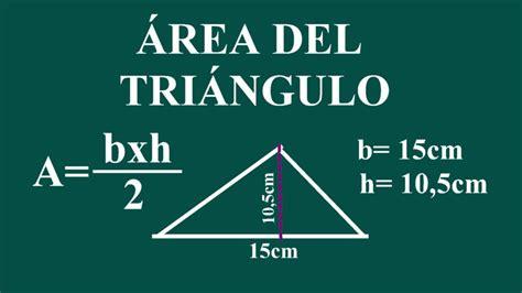 Cómo hallar el área de un triángulo   YouTube