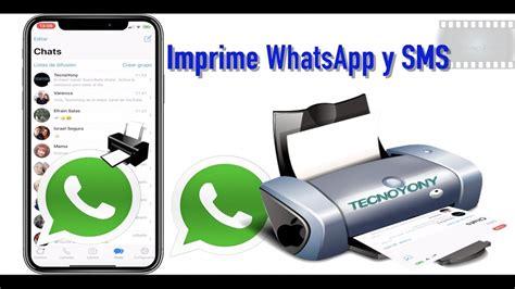 Comó imprimir mensajes de texto y/o de WhatsApp en iPhone ...