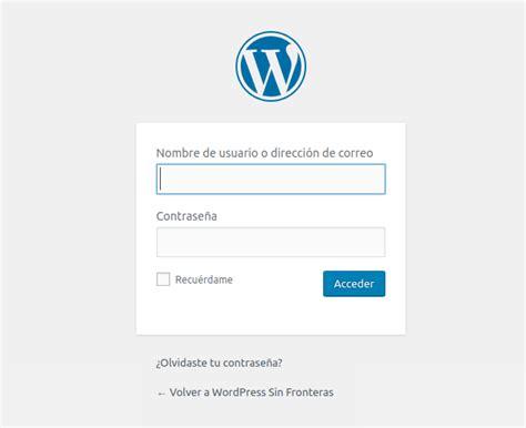 Cómo iniciar sesión en WordPress   WordPress Sin Fronteras