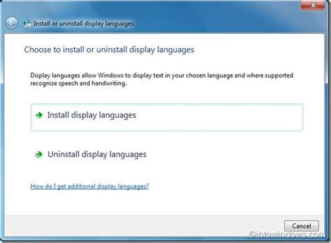 Cómo instalar los paquetes de idioma de Windows 7