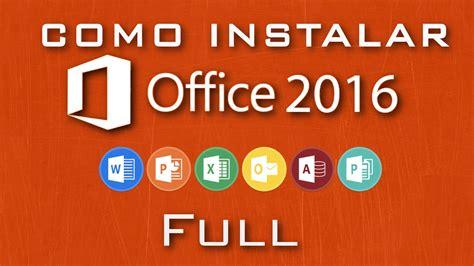 Cómo instalar Microsoft Office 2016 | FULL | ESPAÑOL   YouTube
