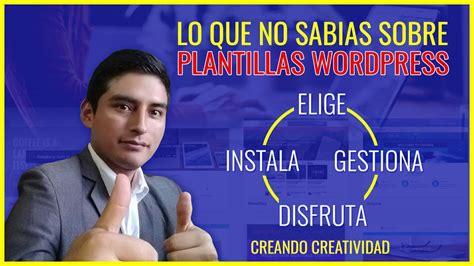 Como instalar PLANTILLA en WORDPRESS   tema gratis y ...