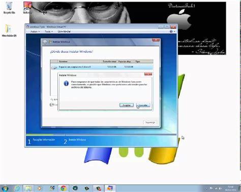Como instalar Windows 7 en Windows Virtual PC   YouTube
