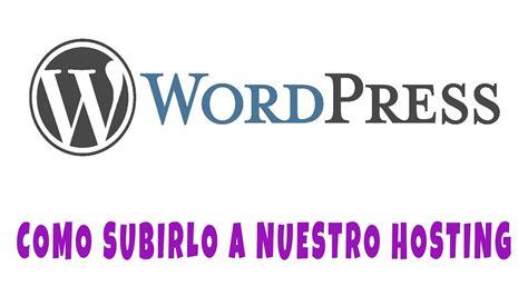 Como Instalar Wordpress En Un Hosting Gratis   YouTube