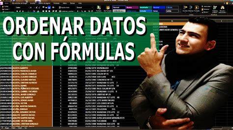 Como ORDENAR DATOS con FORMULAS en Excel y con INTERVALORS ...