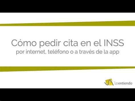 Cómo pedir cita en el INSS  Instituto Nacional de la ...