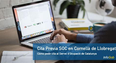 Cómo pedir Cita Previa SOC en Cornellà de Llobregat 2021